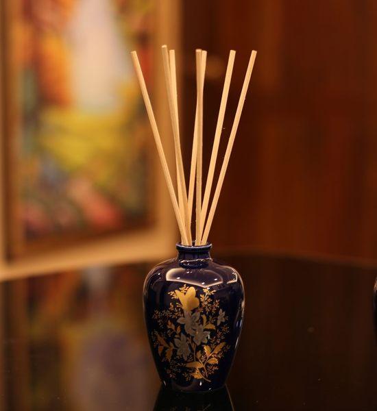 karoli 中國風 香竹薰香陶瓷瓶組 自然揮發擴香瓶 簡裝