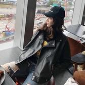 皮衣外套 女短款春秋冬款歐洲站年春季機車矮個子韓版寬鬆bf 港仔會社