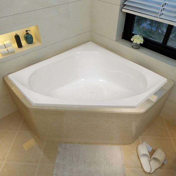 TOTO亞克力三角扇形浴缸小戶型家用成人泡澡小浴池1.3米PAY1300P 薇薇MKS