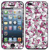 Hello Kitty彩繪貼 iPhone 5s 5 iPhone SE 螢幕保護貼+背蓋貼 (705)