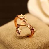 戒指 玫瑰金純銀 鑲鑽-經典大方生日情人節禮物女飾品73by21【時尚巴黎】