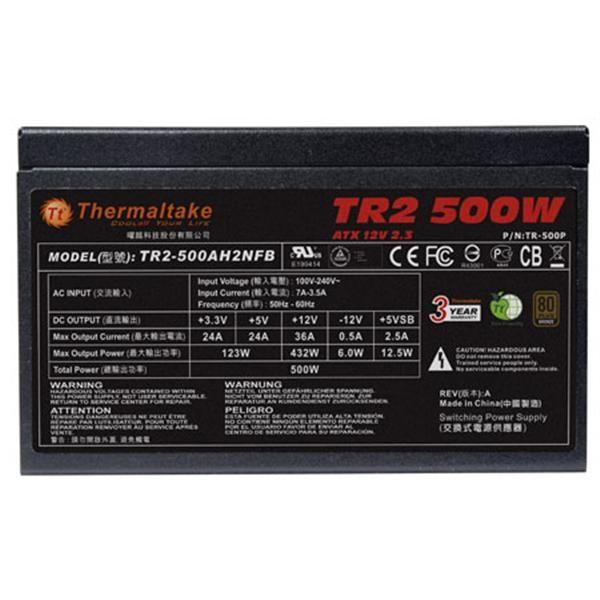 曜越 TR2 500W PRO 電源供應器-80PLUS銅牌