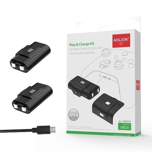 [哈GAME族]免運費 可刷卡 AOLION AL-XB2020 Xbox Series 手把電池組(含二電池+四背蓋+充電線)