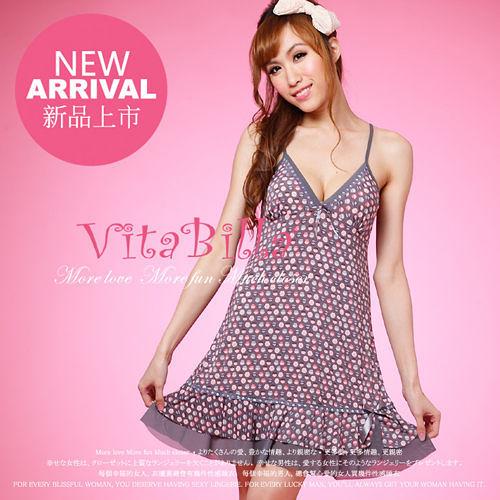 【伊莉婷】VitaBilla 俏麗新娘 睡裙+小褲 二件組