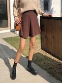 蓬蓬裙   秋冬黑色裙子冬季高腰針織短裙a字傘裙打底半身裙女冬天配毛衣潮促銷好物