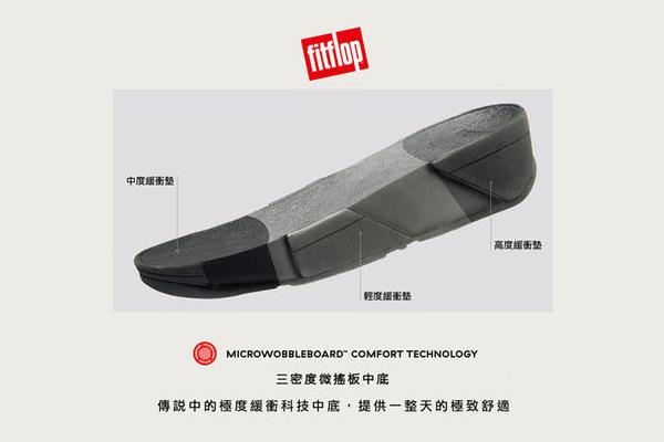 限定優惠價!【FitFlop】扭結系列 PLATT LEATHER TOE-THONGS 髮辮造型設計夾腳涼鞋(黃金色)