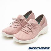 SKECHERS 女鞋 健走系列 YOU 腳套休閒鞋- 粉X細閃銀 14975MVE