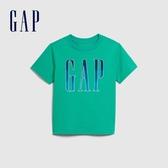Gap 男幼童 Logo活力撞色圓領短袖T恤 577656-翡翠色