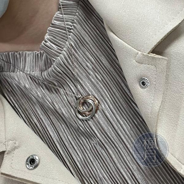 BRAND楓月 TIFFANY&CO. 蒂芬妮 三環項鍊 墜飾 墜鍊 首飾 金屬 925純銀 銀鍊 銀飾 配飾 配件