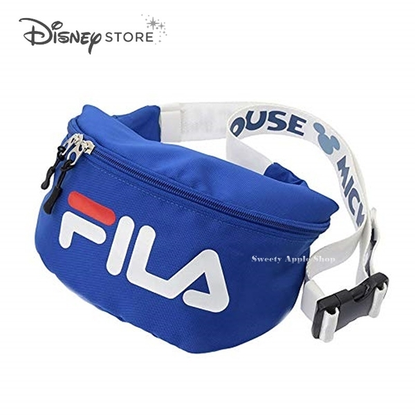 (現貨&日本實拍) 日本 DISNEY STORE 迪士尼商店限定 FILA X 米奇 限定聯名款 腰包 / 單肩包