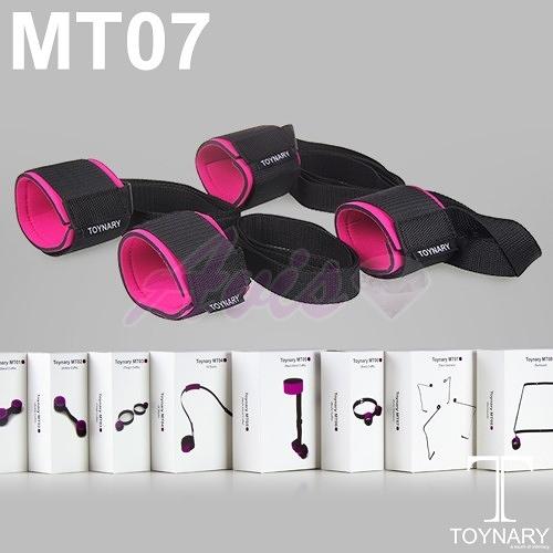 腳銬 情趣用品 買就送潤滑液滿千再9折-香港Toynary MT07 Four Corners特納爾手腳固定定位帶手腳銬