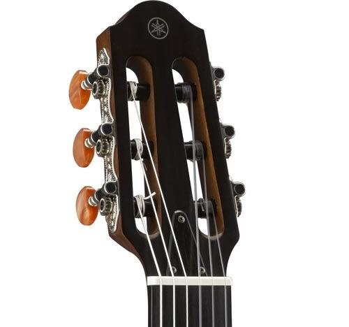 【敦煌樂器】YAMAHA SLG200N TBS 靜音電古典吉他 咖啡漸層色