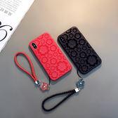 3D半鏤空iphone7plus手機殼蘋果x保護套8plus防摔軟殼6sp潮女款X