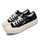 Fila 休閒鞋 C910T 黑 白 女鞋 低筒 運動鞋 餅乾鞋 【PUMP306】 4C910T011