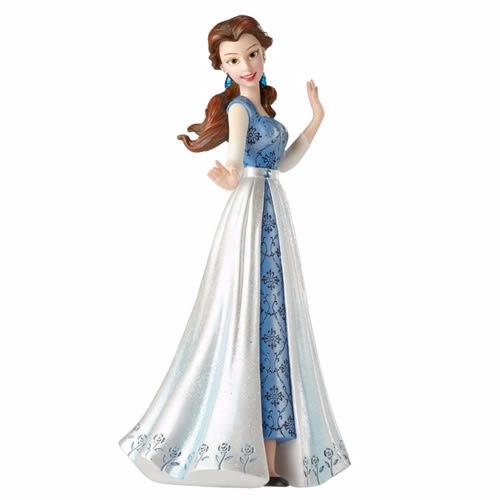 《Enesco精品雕塑》迪士尼公主貝兒神秘藍禮服塑像(Disney Showcase)_EN89413