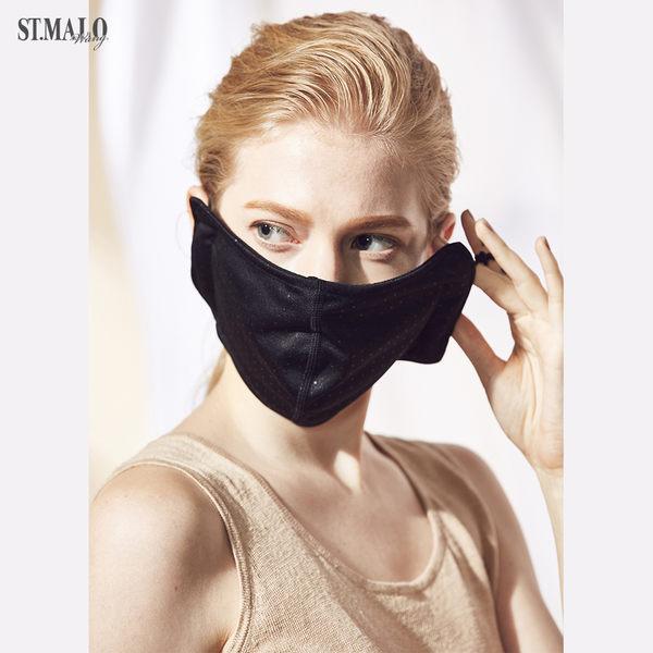 【ST.MALO】空汙out 抗菌口罩-1842WM-晶鑽黑