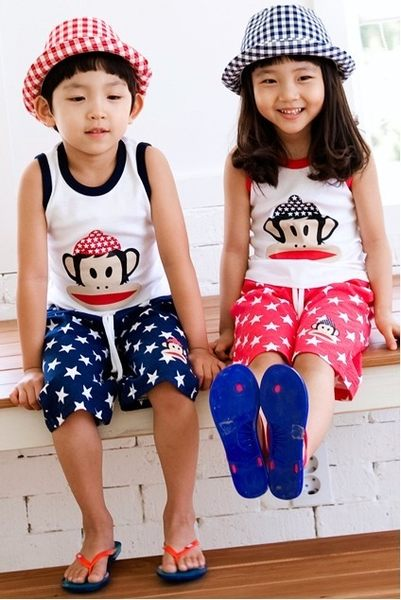 韓版《俏皮小猴款》背心式小套裝