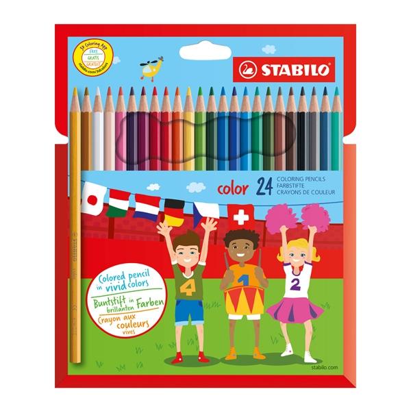 STABILO 德國 思筆樂 color 炫彩樂色鉛筆 24色組 / 盒 1924/77-11
