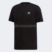 adidas 短袖T恤 Trefoil Essentials T 黑 白 男款 三葉草 【PUMP306】 DV1577