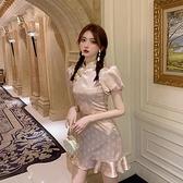 旗袍 桔梗法式甜美初戀裙子年輕款少女旗袍改良連身裙女夏裝2021年新款  美物 99免運
