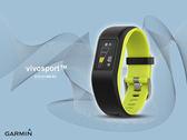 【時間道】GARMIN vivosport -預購-GPS智慧健康心率手環-萊姆綠L(010-01789-B3)免運費