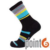 【POINT 6 美國】BAND LIGHT CREW 健行輕量中筒羊毛襪 『黑/知更蛋藍』22612722 258保暖襪|羊毛