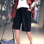 日系文藝韓版男士休閒短褲潮流青少年五分褲學生百搭運動褲子