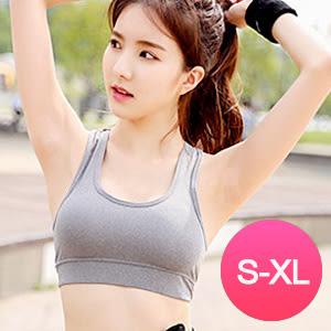 瑜伽背心 大尺碼S-XL 韓國運動健身跑步 挖背 附胸墊 - 2色【Ann梨花安】