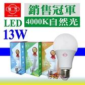 旭光 13W LED燈泡 4000K自然光到貨 E27接頭 CNS 附發票【奇亮科技】省電燈泡 另8W 10W 16W