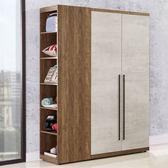 Homelike 席卡3.7尺衣櫃(雙色)-免組裝