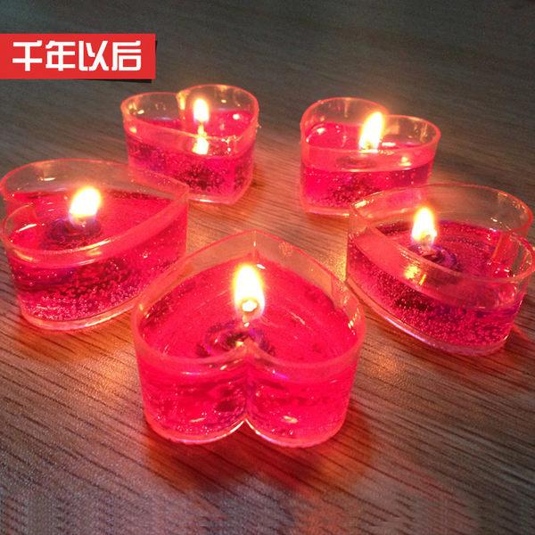 愛心形蠟燭浪漫生日創意表白求婚布置道具DSHY