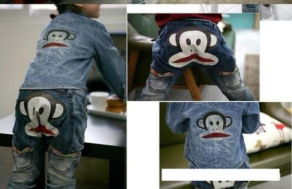 ☆瑋娗童裝婦幼館☆【K-073】韓版 秋冬大嘴猴牛仔長褲(110-150cm )