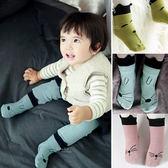立體貓犬臉譜止滑短襪 童襪 印花短襪
