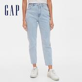 Gap女裝棉質淺色彈力直筒牛仔褲546922-淺水洗藍