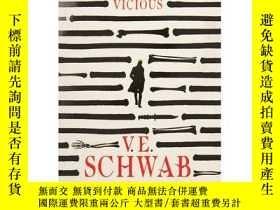 二手書博民逛書店Vicious罕見(The Villains Series) 英