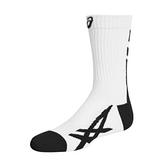 Asics Socks [Z32011-0190] 中筒襪 運動 羽球 排球 厚底 透氣 耐磨 虎爪 白黑
