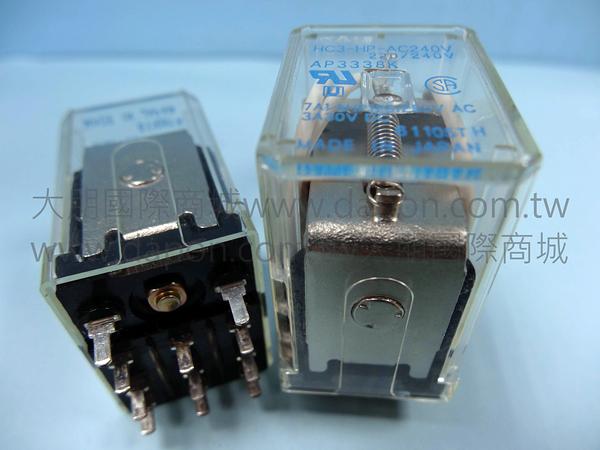 *大朋電子商城*NAIS HC3-HP-AC240V 繼電器Relay(5入)