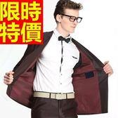 成套西裝 包含西裝外套+褲子 男西服-上班族制服品味特殊剪裁隨意與眾不同54o28[巴黎精品]