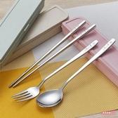 便攜式餐具 304不銹鋼便攜餐具筷勺套裝防滑筷子勺子學生旅游餐具盒
