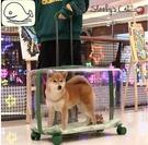 史盧比超大號透明拉桿箱寵物便攜外出包貓包可裝兩只大型犬25斤狗「時尚彩紅屋」