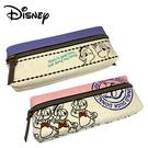 【日本正版】迪士尼 帆布 雙層筆袋 鉛筆盒 筆袋 奇奇蒂蒂 米奇 米妮 唐老鴨 Disney 042542 042559