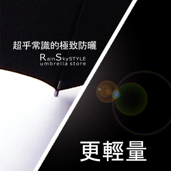 【RainSKY】凡爾賽雙絲印-抗UV晴雨傘/傘 雨傘 非自動傘 折疊傘 遮陽傘 大傘 抗UV傘 防風 潑水+1