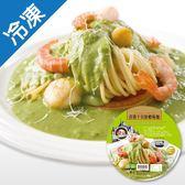 金品青醬干貝鮮蝦焗麵360G/盒【愛買冷凍】