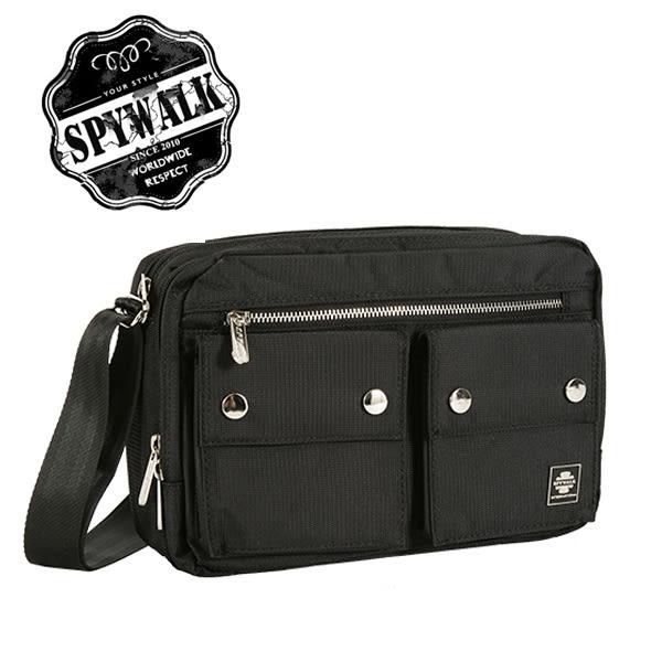 男包 側背包 SPYWALK歐式素面雙口袋側背包NO:1372