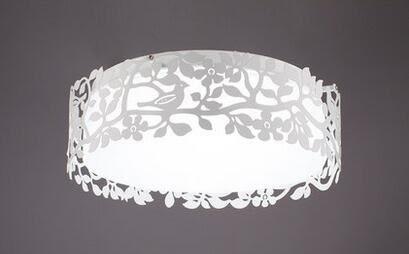 北歐圓形燈具 客廳 吸頂燈簡約現代創意溫馨遙控led兩室一廳-【不含光源】