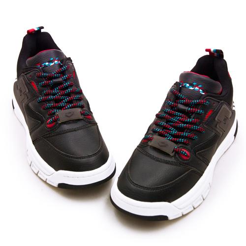 LIKA夢 LOTTO 經典厚底復古多功能運動鞋 SIRIUS 老爹鞋系列 黑紅 1220 女