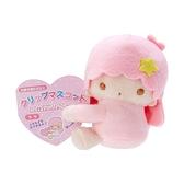 小禮堂 雙子星LALA 迷你絨毛玩偶 玩偶萬用夾 夾式玩偶 娃娃夾子 (粉 2021角色大賞) 4550337-60953