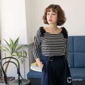 CANTWO甜美蝴蝶結造型上衣-共兩色