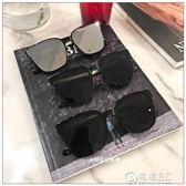方形墨鏡一體平面鏡片太陽鏡男女圓臉時尚太陽鏡   電購3C