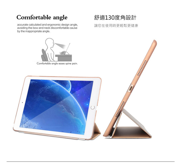 Apple iPad Pro 2017/iPad Air3 2019 10.5吋Smart Cover三折折疊保護皮套